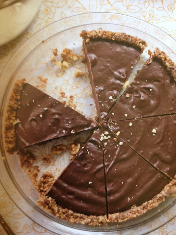 Paleo No-Bake Chocolate Pie with Raw Graham Cracker Crust from The Paleo Chocolate Lovers' Cookbook